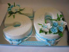 Одноклассники 50th Birthday Cake For Women, Number Birthday Cakes, 60th Birthday Cakes, Number Cakes, Wedding Cake Designs, Wedding Cakes, Cake Lettering, 50th Cake, Cake Templates