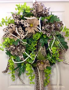 Everyday Mesh Wreath by WilliamsFloral on Etsy