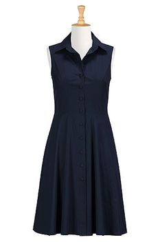 One of my favorite dresses. I have it in navy and crimson -  Cotton poplin A-line shirtdress from eShakti