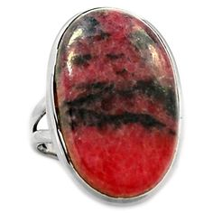 Rhodonite 925 Sterling Silver Ring Jewelry s.7 RDNR231 - JJDesignerJewelry