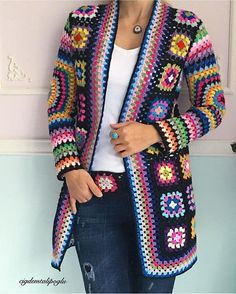Gorgeous crochet granny square jackets are back on trend for Fall, and we've got all the best patterns and a video tutorial!