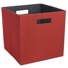 Fabric Cube Storage Bin 13 - Threshold, Red