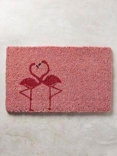 Flamingo Love Doormat in pink Flamingo Print, Pink Flamingos, Flamingo Hotel, Flamingo Beach, Flamingo Party, Photo Deco, Farmhouse Side Table, Desk Makeover, Diy Bathroom Remodel