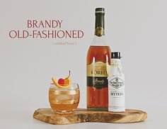 This Brandy Old-Fashioned is a true Wisconsin classic. A supper club old school must with grenadine and bitters. Add some cherries and an orange and you have yourself an original cocktail.