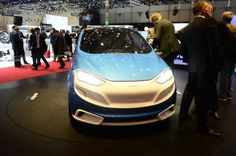 Austria's Magna Steyr presents the MILA Blue at the 2014 Geneva Motor Show