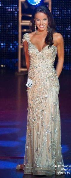 Sherri Hill couture pageant gown Sparkle sequin evening gown Pretty dress Prettiest dress Ever Miss USA Pageant gown Sequin pageant dress #missusa Sydney McBride