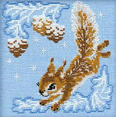 The Squirrel Cross Stitch Kit By Riolis