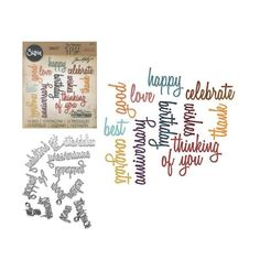 Best Wishes Metal Die Cut Impression Obsession Words Cutting Dies DIE386-F