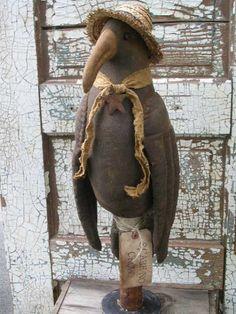 PatternMart.com ::. PatternMart: Crow Doll Make-Do/Fall & Halloween-SPPO-Mr. Crow