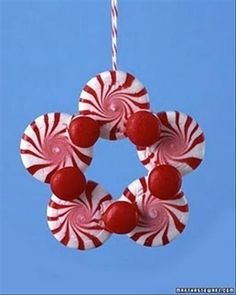 If you are looking for Christmas tree ornaments to make then this easy little Peppermint Christmas ornament is easy and you can get the kids involved too.