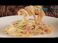 Receta de como preparar fetuccini con jamón y naranja. Receta comida italiana / Receta de pastas