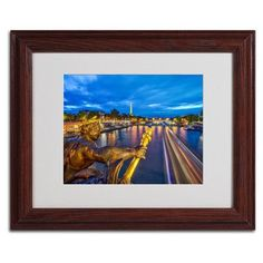 "Trademark Art ""Alexander Bridge Paris"" by Mathieu Rivrin Framed Photographic Print Size: 16"" H x 20"" W x 0.5"" D, Frame Color: Brown"