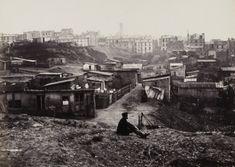 """""""Rue Champlain, Paris (XXème arr.), 1872-1879. Photographie de Charles Marville (1813-1879). Paris, musée Carnavalet."""