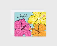 Mahalo Hibiscus Card – Nico Made