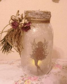 diy crafts, diy project, mason jars projects, diy and crafts mason jars Mason Jar Projects, Mason Jar Crafts, Bottle Crafts, Fairy Lights In A Jar, Fairy Jars, Festa Thinker Bell, Cute Crafts, Crafts To Make, Mason Jars