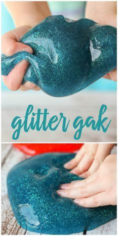 Homemade Glitter Gak recipe - the kids LOVE this stuff!! It takes a minute to make and provides hours of entertainment. Recipe on { http://lilluna.com }