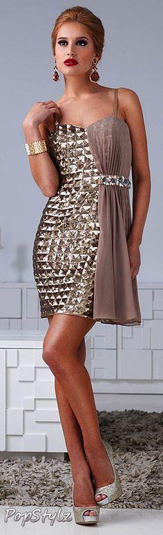 Terani Couture Gold Dress