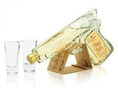 """This packaging has a sensorial design. It catches consumers' attention with its original shape. Its yellow color is known to appeal to the senses. Its transparent glass bottle facilitates the recognition of the product and gives an image of high quality. Regarding communication, the visual impact is really notable with the shape of a gun. There is a play on words: """"shot"""" has two meaning, that's what the packaging reminds us. It provides intense sensation but also reminds people of Mexico…"""
