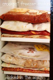 Crockpot Freezer Meals