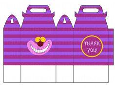 Disney ALICE in WONDERLAND 3D Gift Bag/ Party bag cheshire cat favor box/bag