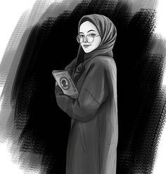 Anime hijab girl Anime muslimah Muslim illustration Indoor girl drawings Miss Turtle - - Art Drawings Sketches, Disney Drawings, Drawing Disney, Girl Drawings, Disney Sketches, Sketch Art, Anime Sketch, Drawing Art, Hijab Anime