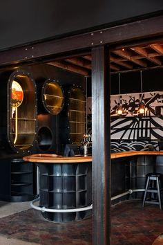The Striped Horse Muizenberg bar - bar design by Haldane Martin, photography by Micky Hoyle