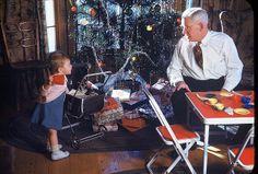 Jan, Grandpa Reed, and the tree, Christmas 1948 | Flickr - Photo Sharing!