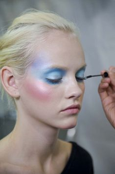 Model - Ginta Lapina | Viktor and Rolf S/S 2010 backstage | Makeup Artist - Pat McGarth