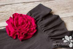 In Bloom Wide Ruffle Pants with Ruffle Flowers by LollipopsPaisley
