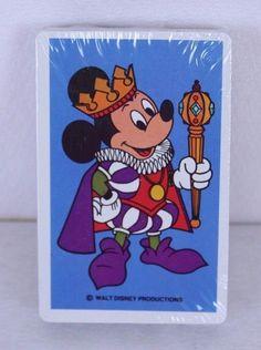 Walt Disney Mickey Mouse Jester Playing Cards Blue Deck New Sealed Pkg  #Disney