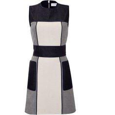 Victoria Beckham Denim - Patchwork Denim Dress