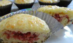 Cupcake Salgado de Calabresa