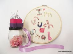 Textile illustration embroidery hoop art I'm such a by ThimbleHoop