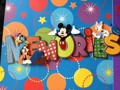 Premade Scrapbook Page  Disney Fun 1 by mysecrethobby on Etsy, $15.00