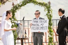 Love Actually inspired ceremony // Classic Bride: Classic Summer California Wedding {with two gowns!} Preppy + Polished Wedding Style // Planning and Coordination by All You Need is Love Events and Photos by Christine Chang Photography