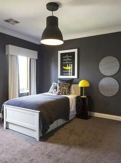 33 Best Teenage Boy Room Decor Ideas and Designs for 2018 Boys room ideas from DIY to decorating to color schemes- so much inspiration to make your boy's room cozy and stylin'. Boys Bedroom Decor, Budget Bedroom, Small Room Bedroom, Trendy Bedroom, Bedroom Themes, Bedroom Yellow, Diy Bedroom, Boys Bedroom Ideas Tween Wall Colors, Boys Bedroom Colour Scheme