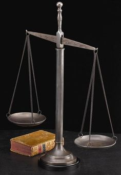 Tall Scales of Justice Sculpture T.P.