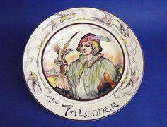 royal doulton | Royal Doulton Professionals Series 'The Falconer' Portrait Rack Plate ...