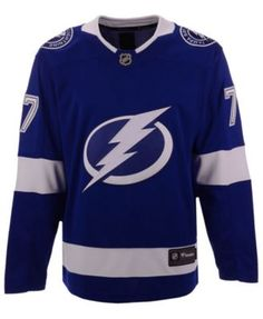 4da88b9ea Fanatics Men s Victor Hedman Tampa Bay Lightning Breakaway Player Jersey -  Blue XXL. Victor HedmanNhl ...