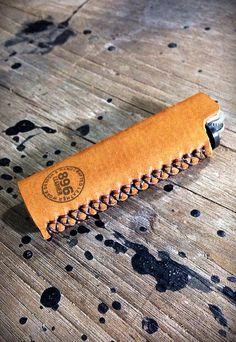 Tan leather lighter case, Lighter cover, Handmade lighter case