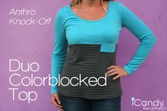 Anthro Knockoff: Duo Colorblocked Top - iCandy handmade