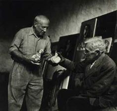Picasso & Braque Vallauris, France 1954. Lee Miller