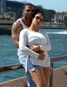 Nelly & girlfriend Shantel Jackson as they enjoyed the view of Sydney Harbour