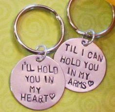 Custom handstamped keychains - created by Debi West