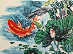 Continental Art Center AD-0354 12 by 16-Inch Lotus Pond with Koi Fishes Ceramic Art Tile by Continental Art Center. $62.78. Exclusive designs from well known artists with signature of the artist on each tile. 100-Percent hand made 3-D textures are created by hand pipping process; One of a kind Come with a recyclable gift box. Pre-attached backings can be removed by soaking in water for installation as backsplash or a center piece both indoor and outdoor. Hand paint...