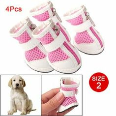 Como Puppy Pet Dog Velcro Shoes Zip Up Pink Booties Boots Sz 2: Dog Gift, Dog Apparel