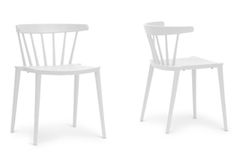 Baxton Studio Finchum White Plastic Stackable Modern Dining Chair (Set of 2) Baxton Studio Finchum White Plastic Stackable Modern Dining Chair, wholesale furniture, restaurant furniture, hotel furniture, commercial furniture