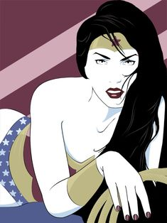 Wonder Woman in the style of Patrick Nagel in what's likely inspired by the cover of Duran Duran's Rio. Can't beat that combination! Patrick Nagel, Madona, Pop Art, Comic Art, Comic Books, Nagel Art, Wonder Woman Art, Wonder Women, Hq Dc