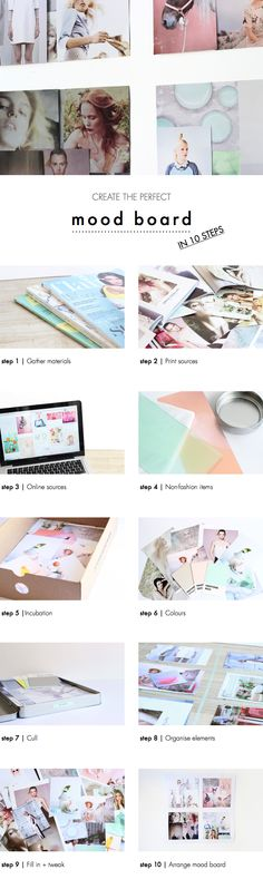 Inspiring! I will create mine asap | Tutorial How to create the perfect mood board in 10 steps.