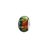 Dichroi Glass with Palm Trees Bead